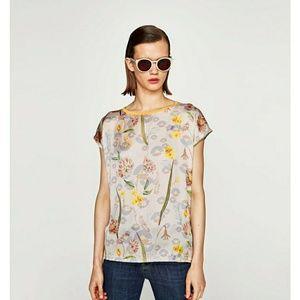 Large zara blouse nwt